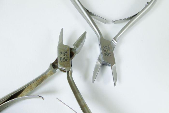 narzędzia podologiczne RUCK brudne i czyste